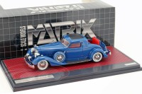 1:43 PACKARD 1108 Twelve Stationary Coupe Dietrich 1934 Blue