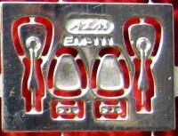 1:43 Фототравление Зеркала для Горький 21 (1 вариант), блестящий никель