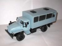1:43 Уральский грузовик 43206 вахтовый автобус с низкой крышей (серый)