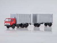 1:43 Камский-53212 контейнеровоз с прицепом ГКБ-8350