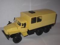 1:43 Уральский грузовик 43206 вахтовый автобус с низкой крышей полугрузовой