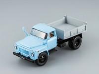 1:43 САЗ 3504 самосвал 1975 (голубая кабина, серый кузов)