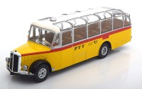"1:43 автобус SAURER L4C ""PTT"" (Почта Швейцарии) 1959 Yellow/White"
