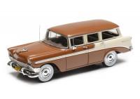 1:43 Chevrolet Bel Air Beauville wagon 1956 (brown / cream)