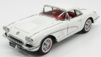 1:18 Chevrolet Corvette 1958 (snowcrest white)