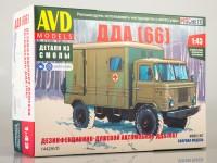 1:43 Сборная модель Дезинфекционно-душевой автомобиль ДДА (66)