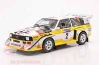 "1:18 AUDI Sport Quattro S1 #2 ""HB Audi Team"" Mikkola/Hertz Lombard RAC Rally 1985"