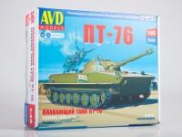 1:43 Сборная модель Плавающий танк ПТ-76