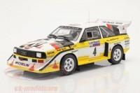 """1:18 AUDI Sport Quattro S1 #4 """"HB Audi Team"""" Rohrl/Geistdoerfer Lombard RAC Rally 1985"""
