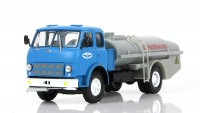 "1:43 МАЗ-500А ТЦ-7.5 Цистерна ""Огнеопасно"" Аэрофлот, голубой / серый"
