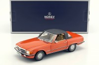 1:18 MERCEDES-BENZ 300SL Cabriolet (R107) 1986 Inca Red