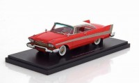 1:43 PLYMOUTH Fury Hardtop 1958 Red/White