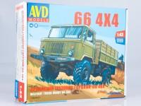 1:43 Сборная модель Армейский грузовик Горький-66 4х4
