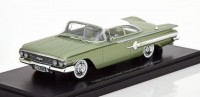 1:43 CHEVROLET Impala Sport Coupe 1960 Metallic Light Green/White