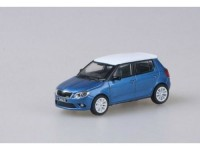 1:43 Skoda Fabia II RS 2011 Blue Race Metallic with white roof+white wheels