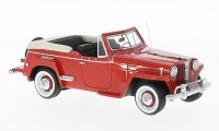 1:43 WILLYS Jeepster Convertible 1948 Red