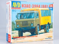1:43 Сборная модель Вахтовый автобус НЗАС-3964 (66)