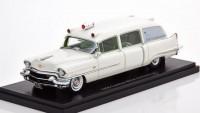 1:43 CADILLAC Miller Ambulance (скорая медицинская помощь) 1956 White