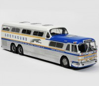 1:43  GM PD-4501 GREYHOUND SCENICRUISER USA 1956 голубой с белым