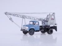 1:43 Автокран АК-75В (130) синий/серый