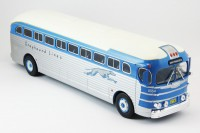 "1:43 автобус GMC PD-3751 ""GREYHOUND LINES"" USA 1947 Blue/Silver"