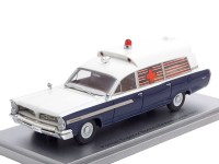 1:43 PONTIAC Superior Bonneville J.F.K Ambulance 1963 Blue/White