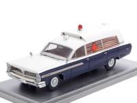 1:43 PONTIAC Superior Bonneville J.F.K Ambulance 1963 Blue/White