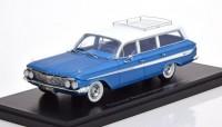 1:43 CHEVROLET Nomad Station Wagon 1961 Metallic Blue/White