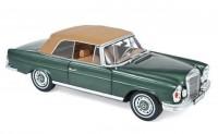1:18 MERCEDES-BENZ 280SE 3.5 (W111) Cabriolet 1969 Green Metallic