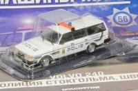 1:43 # 56 Volvo-240 Полиция Стокгольма (журнальная серия)